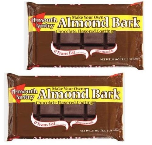 Plymouth Pantry - Chocolate Flavored Almond Bark - 24 oz (Pack of 2)