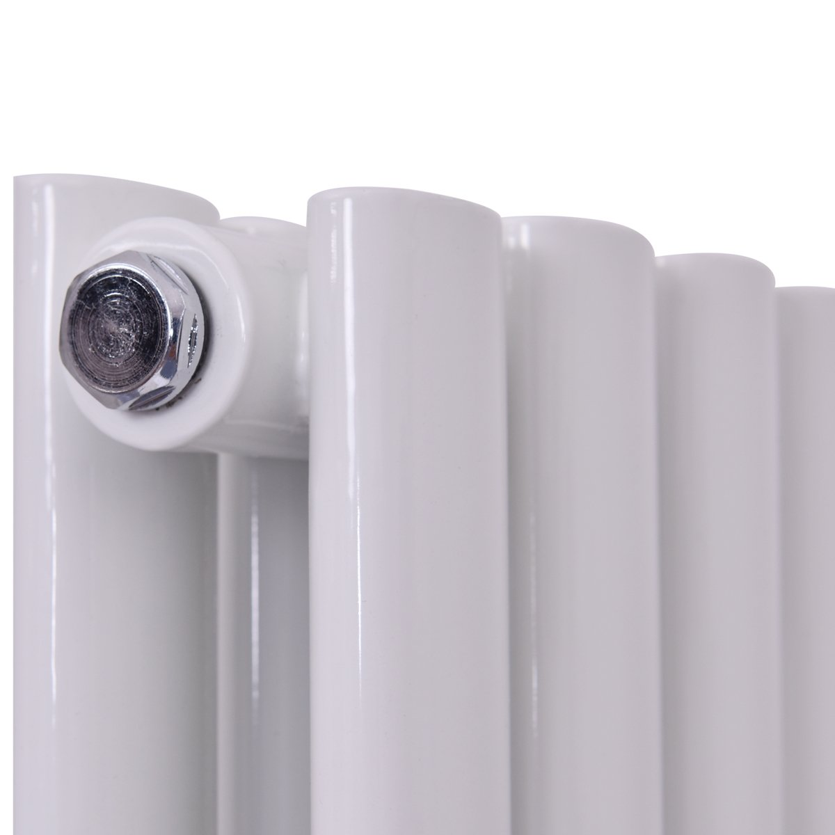 Bedroom Single//Double Flat Heating Panel White 1600x240mm-Single Bathroom Central Steel Heater COSTWAY Vertical Column Designer Radiator for Living Room