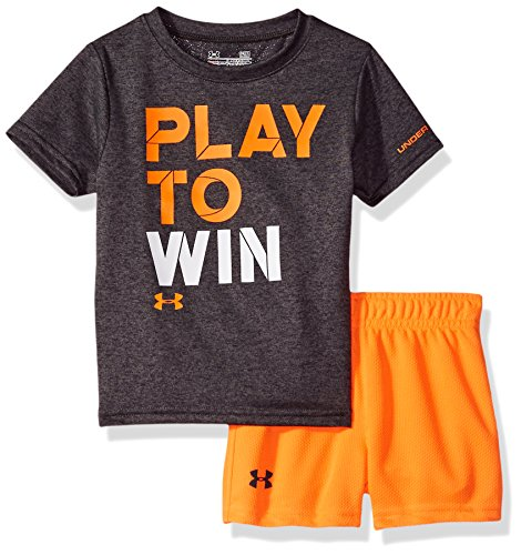 Under Armour Baby Boys' Play to Win Set, Charcoal Gray Heather, 3-6M