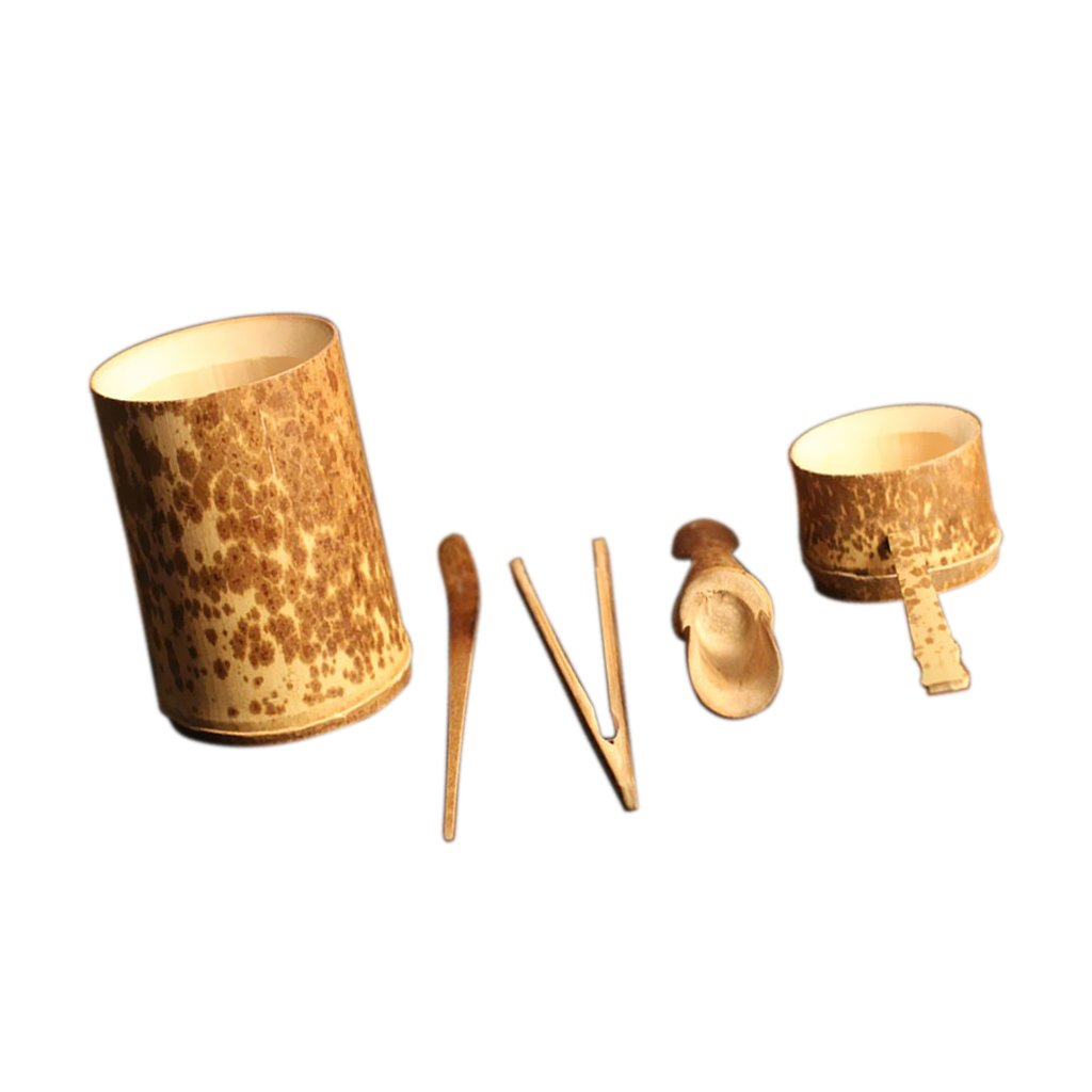Sharplace 5 Pieces Bamboo Tea Accessories Chinese Kongfu Tea Ceremony Utensils Set