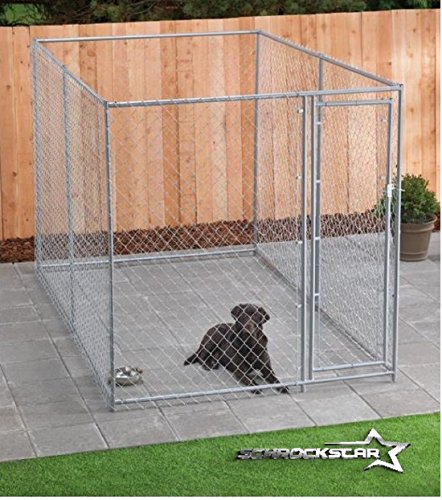 Dog kennel for xxl dogs large breed chain link outdoor dog for Giant breed dog kennel