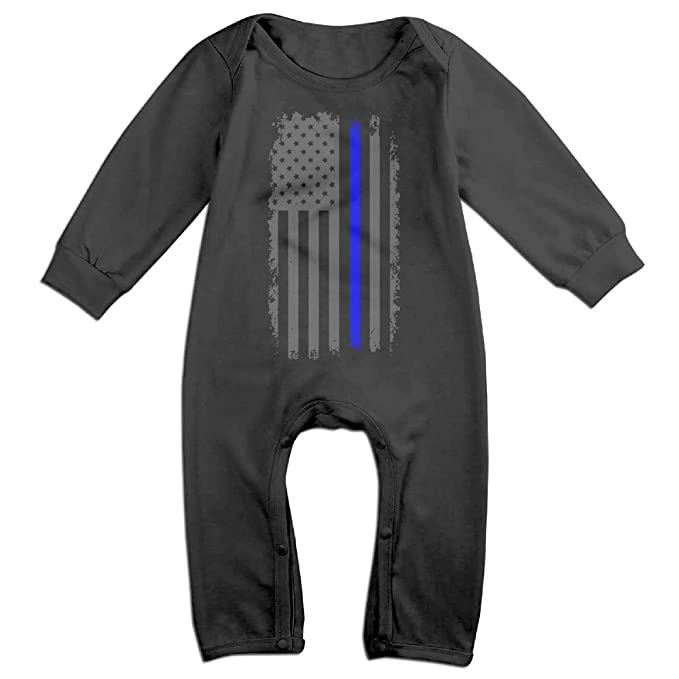 Amazon.com  UGFGF-S3 Vertical Thin Blue Line American Flag Long Sleeve  Newborn Baby Romper Jumpsuit Onsies for 6-24 Months Bodysuit  Clothing 47015038c