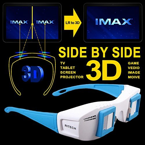 Cowcool(R) Gloriest Mate II Site by Side 3d Experience Stereoscopic 3D Glasses For Computer TV Projector Tablet Format 3D Eyes Side By Side SBS Movie Film (Stereoscopic 3d)