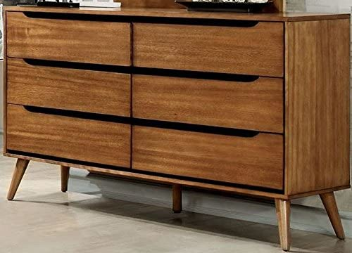 Furniture of America CM7386A-D Lennart Oak Dresser Drawer Chest