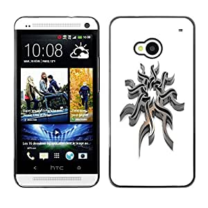 "For HTC One ( M7 ) , S-type Acero tribal"" - Arte & diseño plástico duro Fundas Cover Cubre Hard Case Cover"