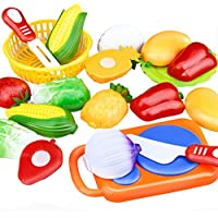 SODIAL 12 Pcs / Set Enfants Jouet En Plastique Fruits Legumes Alimentaire Coupe Pretend Jouer Tot Educatifs Enfants Jouets