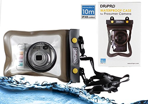 Navitech Black Waterproof Underwater Housing Case/Cover Pouch Dry Bag Compatible with The Canon PowerShot SX720 HS