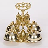 Solid Brass Vintage European Style Communion Bells - Church Bells - Altar Bells - Sacristy Bells - Chalice (CCG-106)