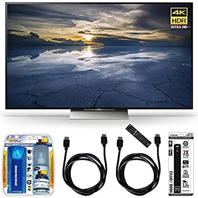 Sony XBR-55X930D 55-Inch Class 4K HDR Ultra HD TV Accessory Bundle includes TV, Screen Cleaning Kit, Power Strip with Dual USB Ports and 2 HDMI Cables