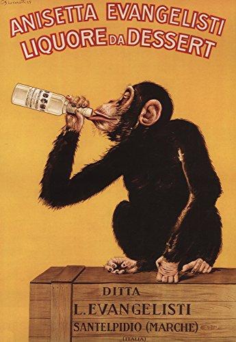 Anisetta Evangelisti Liquore da Dessert - Vintage Promotional Poster (24x36 SIGNED Print Master Giclee Print w/Certificate of Authenticity - Wall Decor Travel Poster)