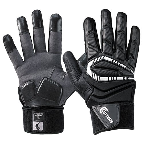Cutters Force Lineman Gloves, Black, Adult Medium