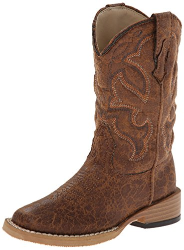 Scout Square Toe Basic Cowboy Boot, Brown, 10 M US Toddler