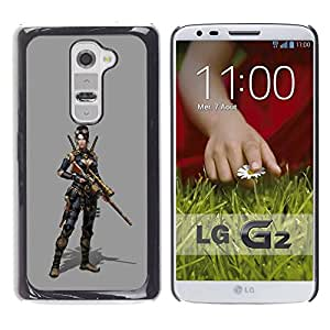 Paccase / SLIM PC / Aliminium Casa Carcasa Funda Case Cover - Woman Pc Game Character Fighter War - LG G2 D800 D802 D802TA D803 VS980 LS980