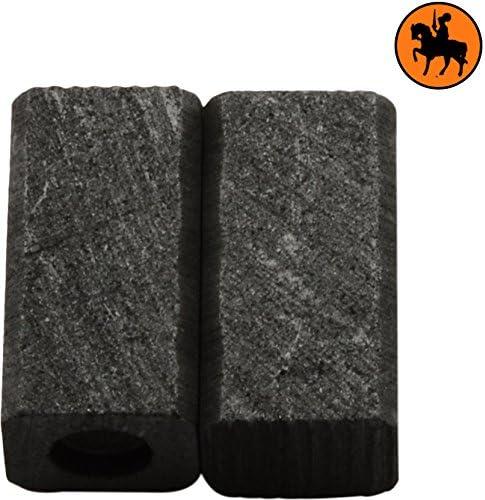 Balais de Charbon pour BLACK /& DECKER GT435 2.4x2.8x5.1 6x7x13mm