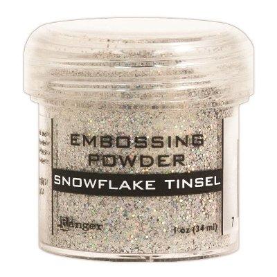Ranger EPJ-37453 Embossing Powder, 1-Ounce Jar, Snowflake Tinsel
