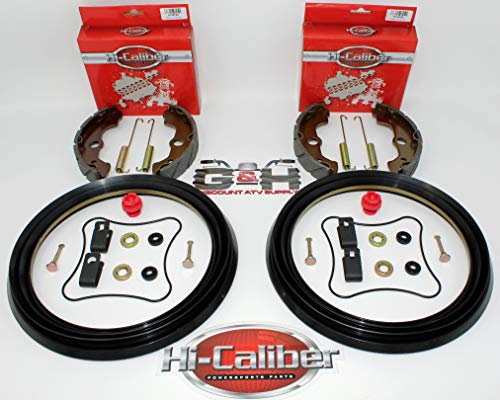 Quality FRONT Brake Rebuild KIT (Includes Grooved Shoes, Springs, Hardware) for 2000-2003 Honda TRX 350 Rancher