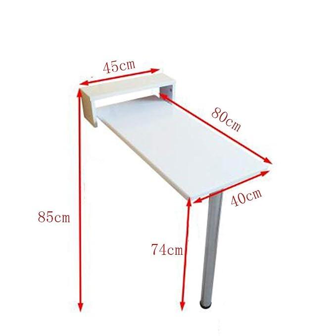 LLA Tabla pared blanca plegable de madera maciza mesa de comedor ...