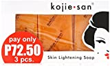 Kojie San 3-Pack Skin Whitening Lightening Bleaching Kojic Acid Soap w/ Glycerin- US