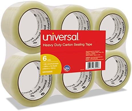 """ボックスシーリングテープ、2"""" x 55yds、3""""コア、クリア、6/パック, Sold as 1Package"""