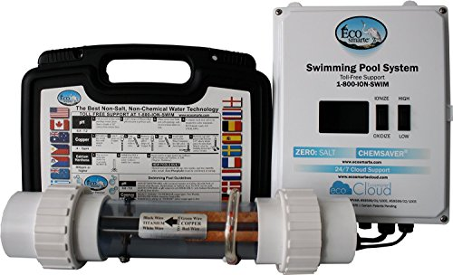 Professional Grade Products 9800660 EcoSmarte Spa Turbo Non-Salt and Non-Chlorine Water Cleansing and Filtration System for Spas and Hot Tubs, 200 gal to 1000 gal, J4 Plug, 110V (Tub Electronic Hot)