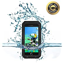 iPhone 6 Plus/6s Plus Water Proof Bumper Case, Myckuu [X-sports Series] Super Anti-crash Fullbody Hermetic Screwed Metal Shell for Sports Enthusiast like Diving,Surfing,Skiing,Climbing,Skateboarding