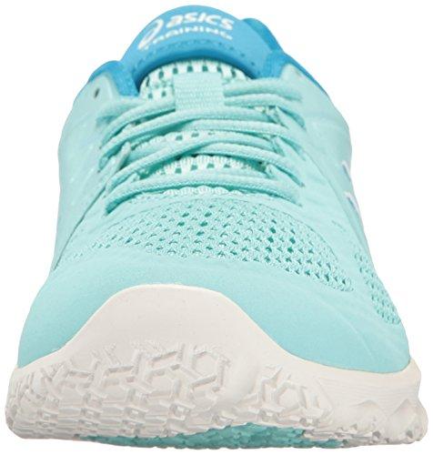 5 8 White Cross Splash Conviction Shoe M Diva Women's Trainer US Aqua X ASICS Blue vCfWq