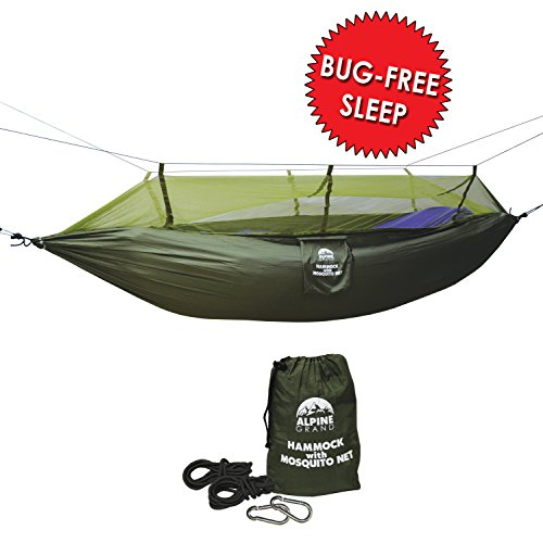 alpine grand hammock with mosquito   sleep like a baby anywhere   bug free includes hanging ropes   lightweight parachute fabric hammock for camping     alpine grand   buy alpine grand products online in oman   muscat      rh   oman desertcart