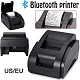 USB Thermal Receipt Printer, High Speed 58mm/ Wireless Bluetooth Thermal Bill Printer Support Android & iOS & Windows & Linux and ESC POS, Easy to Setup
