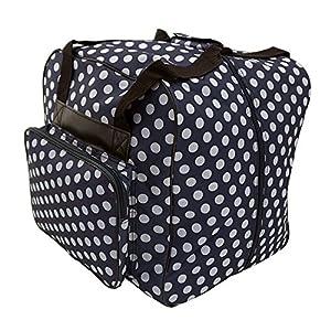 Hemline Dotty Navy Polka Dot Serger or Overlock Tote Bag from Hemline