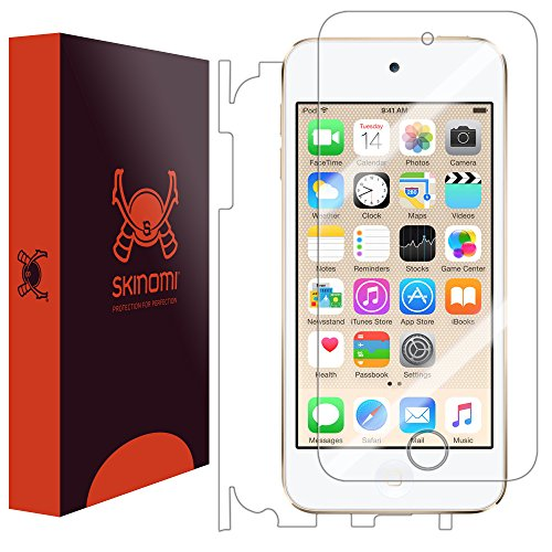 Skinomi Full Body Skin Protector Compatible with Apple iPod Touch (6th Generation, 2015)(Screen Protector + Back Cover) TechSkin Full Coverage Clear HD Film