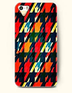 HOUNDSTOOTH- OOFIT Case for Apple iPhone 5/5S - Colorful Houndstooth Shade
