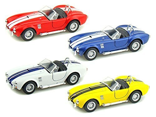 Kinsmart 1/32 Scale Diecast Pullback Action 1965 Shelby Cobra 427 S/c Set of 4 Colors