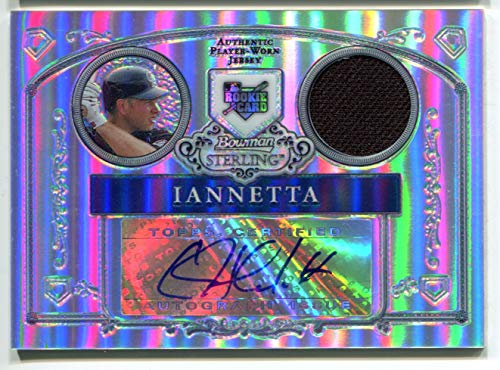 Chirs Iannetta AUTO 2006 Bowman Sterling RC Rookie Card Colorado Rockies Autographed Jersey Trading Card REF Refractor #/199