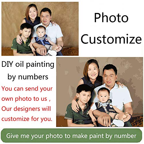100% autentico With With With Frame Foto personalizada, haga su propia pintura al óleo personalizada de DIY con números, dibujo, lienzo, retrato, boda, fotos de familia, enmarcadas, 50x50cm 40x50cm  primera vez respuesta