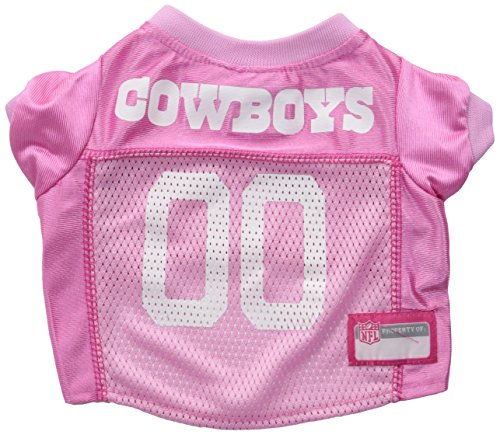 NFL Dallas Cowboys Dog Jersey Pink, Small. - Football Pet Jersey in - Houston Texans Embroidered Leather