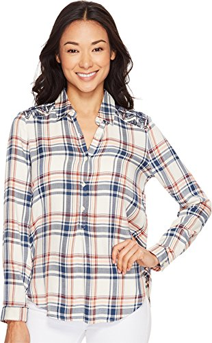 lucky-brand-womens-embroidered-plaid-top-natural-multi-medium