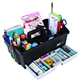 ArtBin Art/Craft Supply Caddy - black/Gray- 6963AG