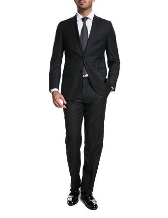 52f8ee0297b347 keskin collection Herren Anzug Schwarz Slim Fit Modern Fit Red Label   Amazon.de  Bekleidung