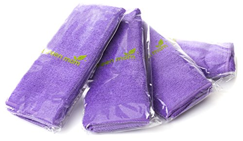 Screen Mom Screen Cleaning Purple Microfiber Cloths (4-Pack) - Best for LED, LCD, TV, iPad, Tablets, Computer Monitor, Flatscreen