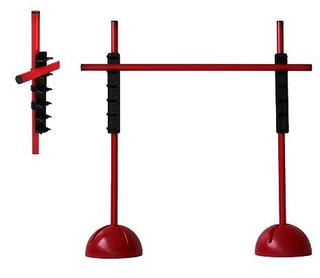 3x picas 160 cm, 2x bases rellenables, 2 x clips de conexi/ón Set de salto amarillo