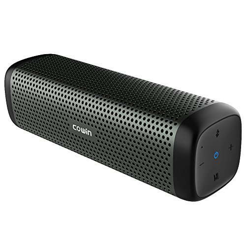 COWIN 6110 Bluetooth Speakers, Portable Wireless Speaker 4.1 with 16W Enhanced Bass, High-End Fashion Aluminum-Alloy Shell, TF Card Support - Gray