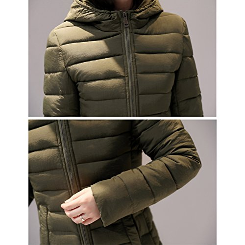 Zhhlaixing Abrigo de moda Cotton Long Coat Europe and the United States Style Lightweight Down Jacket Keep Warm for Winter Black