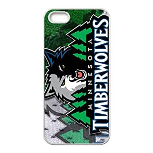 Minnesota Timberwolves NBA White Phone Case for iPhone 5S Case
