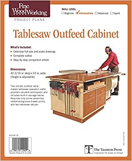Amazon Com Fine Woodworking S Tablesaw Outfeed Cabinet Plan