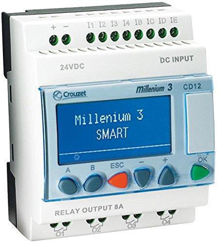 Crouzet Automation 88974042 Controller Logic M3 Custom 8 DigitalIn/4 Relay Out 24 VDC PNP CD12ST