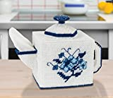 Delft Teapot Tissue Box Cover Plastic Canvas Kit