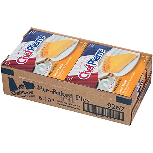 Sara Lee Chef Pierre Pre Baked Sweet Potato Open Face Specialty Pie, 10 inch - 6 per case. by Sara Lee (Image #3)