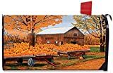 Briarwood Lane Pumpkinville Fall Magnetic Mailbox Cover Autumn Wagon Barn Standard
