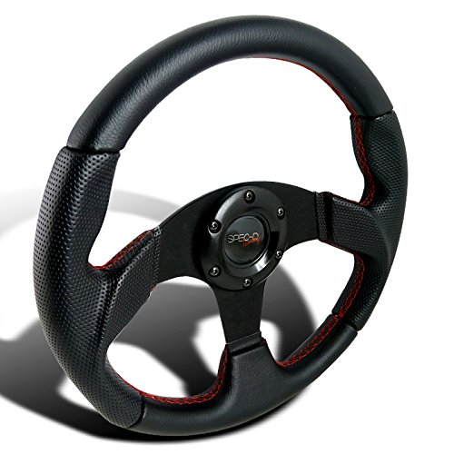 Firebird Grill (Spec-D Tuning SW-106RS 320MM Black Leather Red Stitch Sport Racing Steering Wheel)