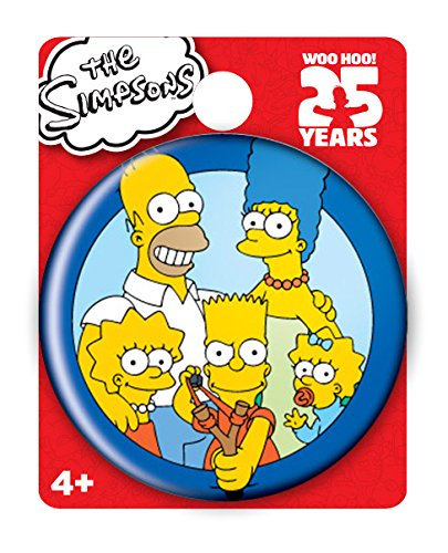 Simpsons The Family Single Button Pin Action - Pins Simpsons